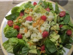 Cuenca produce, salad at home